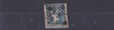 India  1854    S G 3  1/2A Blue  Used No6