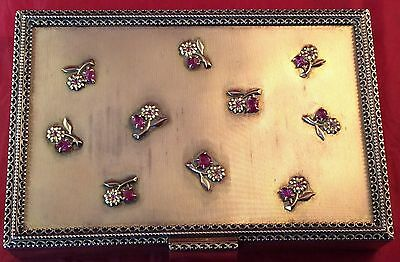 Boucheron Paris Silver And Carved Ruby Necessaire Vanity Case