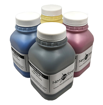 (400g) Toner Refill for Ricoh Aficio SP C250SF, SP C250DN - 4pk (BCMY) + 4 Chips