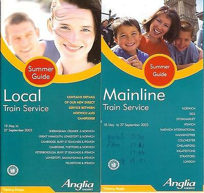 Anglia Railways GB group Mainline + Local Summer 2003 times Norwich Thorpe Ely
