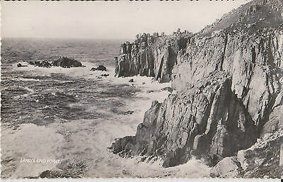 Vintage Postcard  Land's End Point, Cornwall Posted 1958