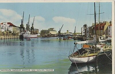 Colour Postcard Weymouth Harbour Showing New Pavilion Theatre Posted 1962 Dennis