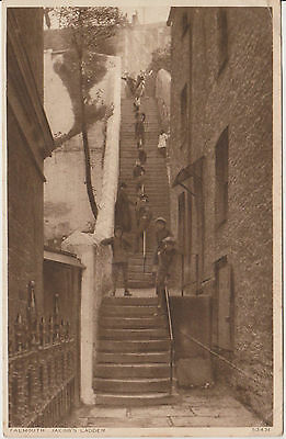 Vintage Postcard Falmouth Jacob's Ladder  Posted 1929 Photochrom Children