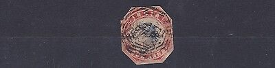 India 1854 - 55      4A Red & Blue Used Cut To Shape No2