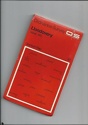 OS Red Series Map LLANDOVERY 140  1967