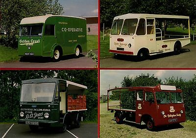 4 BaMMOT Postcards - Battery Electric Vehicles - Milk Floats: Walsall Co-Op etc