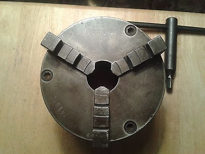 """6"""" Cushman 3-Jaw Lathe Chuck with 2.25"""" x 8 tpi back plate"""