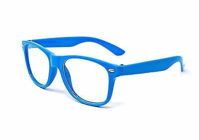 Blue Clear Classic style kids Costume Perfect for Parties Hipsters Nerd glasses