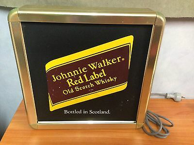 Johnnie Walker Red Label Old Scotch Whiskey - Electric Beer Sign