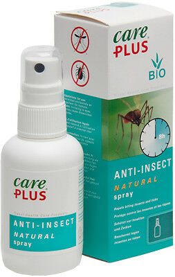 Care Plus Natural Anti Mosquito insect Spray 60ml Sensitive Kid Safe Deet Free