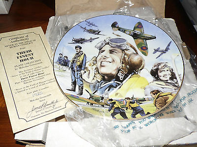 Hamilton Their Finest Hour Collectors Plate WWII never in the field 550B