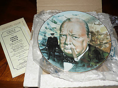Hamilton Their Finest Hour Collectors Plate WWII This was their finest hour 556B