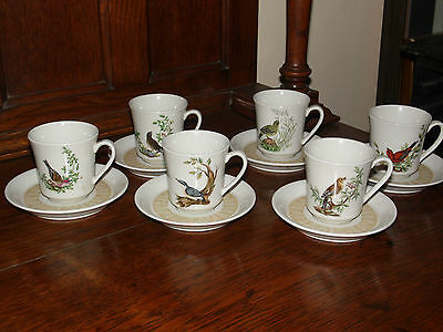 6 x Villeroy & Boch  coffee cup / mug and saucers VGC (513A)
