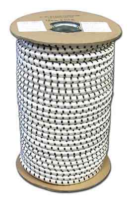 """Elastic Bungee Shock Cord Rope Cording Roll Stretch Bungie White 1/8"""" X 50'"""