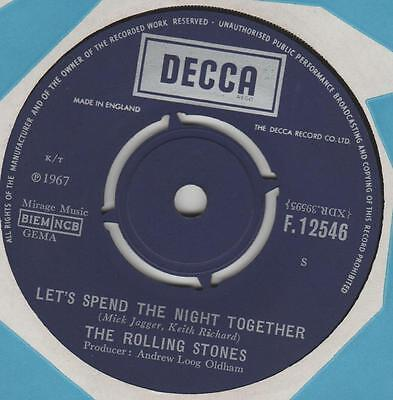 Rolling Stones Let's spend the night together  Decca F.12546 VG+