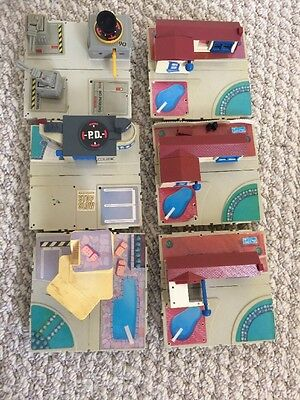 Micro Machines Travel City Playset Bundle Incomplete Assorted Bases And Pieces