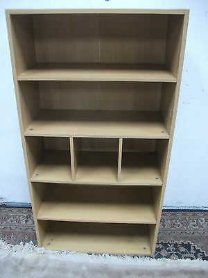 childrens beech wood style bedroom bookcase storage unit