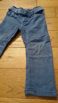Blue soft denim Jeans Trousers with belt - 2-3 years skinny fit - George