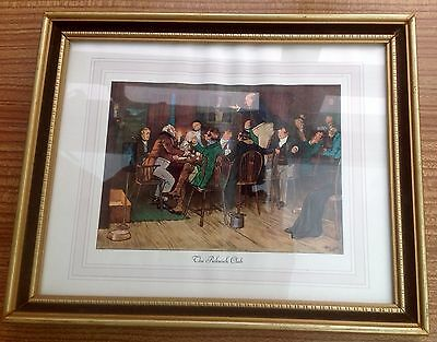 Framed Signed Print Of The Pickwick Club From The Pickwick Papers