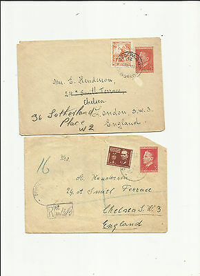 Yugoslavia 1950/1 covers to England incl registered