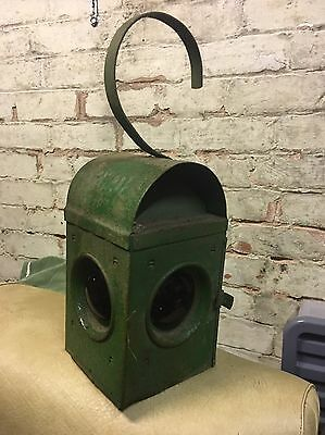 Old Green Paraffin  Road Lamp