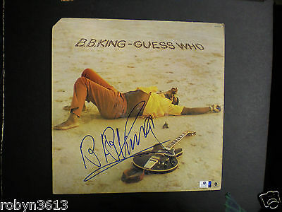 "Signed Album -Legendary & Late Icon B.b. King-""guess Who""-Blues Great Certified"