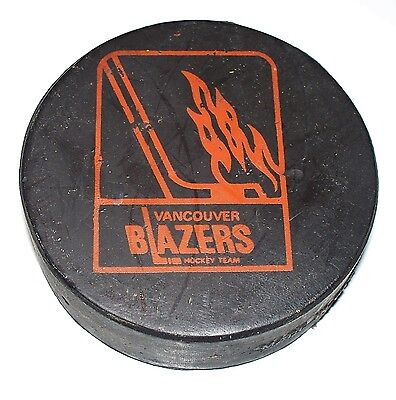 Vancouver Blazers Wha Hockey Puck