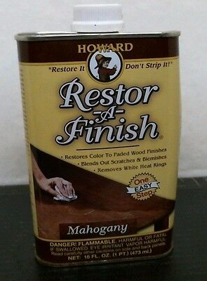 Howard 16005 Restor-A-Finish Mahogany Color Wood Furniture Finish Restorer 8oz