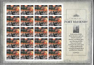 WCstamps: U.S. Scott #4921a - Uncut Die Sheet (20) Fort McHenry Forever Stamp