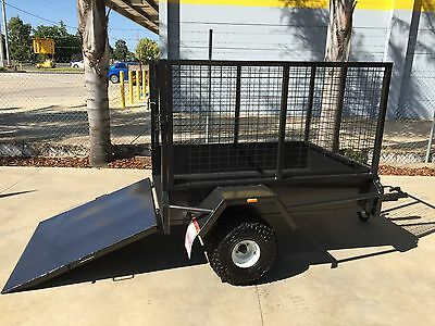 New 6 x 4  ATV  Trailer with 3Ft Crate & Ramp