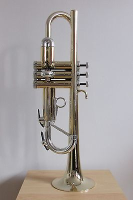 Tromba Plastic Bb Trumpet in Gold with Silver Trim