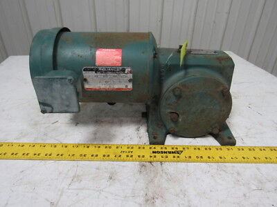 Reliance Electric FC56WG21A 50:1 Ratio Gear Box Speed Reducer W/3/4 Hp Motor