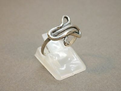 Vintage Jewelry Snake Sterling Silver 925 Ring Russia
