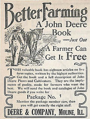 1911 Deere & Company Better Farming Book Advertisement Moline Il And One The Lin