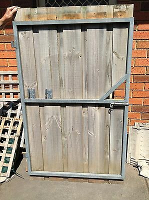 Garden Gate, Galvanised Frame And Timber Palings