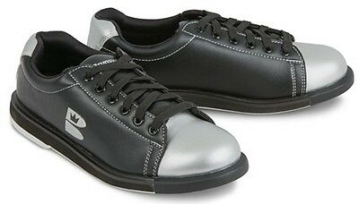 Youth Boys Brunswick TZone Bowling Shoes Color Black & Silver Size 2