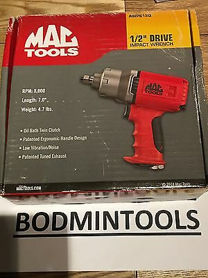 """Mac Tools AWP612Q 1/2"""" Drive Quiet Composite Air Impact Wrench"""