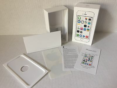 Empty Box Apple iPhone 5S 32GB White A1533  with guide and stickers