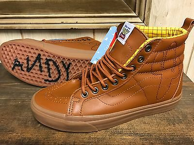 Vans X Toy Story Sk8 Hi Woody Leather Size 11 (woman 12.5)