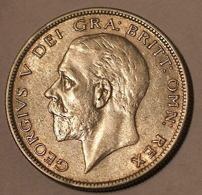 Extremely high grade GB King George V 1929 Silver Half Crown. A/UNC