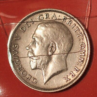 1916 SIXPENCE, BRITISH SILVER COIN FROM GEORGE V High Grade EF to AU?