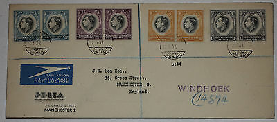 Fdc First Day Of Issue Cover King George Vi 1937 Coronation Stamps South Africa