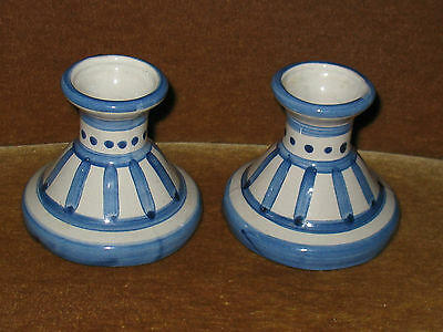Pair Of Mary Hadley Pottery Candlesticks