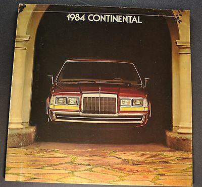 1984 Lincoln Continental Catalog Brochure Givenchy Excellent Original Canadian