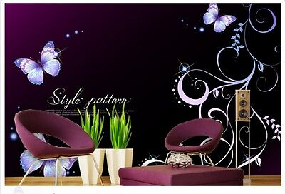 M-C Modern Simple Style Purple Pattern Background Living Room Bedroom WallPaper