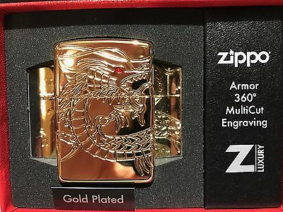 Zippo - GOLD PLATED Chinese Dragon ~ 2016/17 Choice Catalog Offering