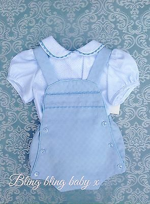 Baby Boys Spanish Traditional Romper , Shorts Outfit , Set , Romany 6-12 Months