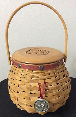 Longaberger 2003 Tournament of Roses combo basket tie on lid protector and liner