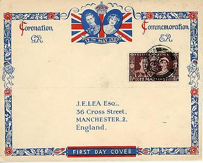 GB 1937 Coronation, scarce illustrated FDC with MANCHESTER CDS, Cat £30+