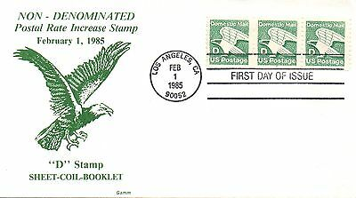 US FDC #2112 D Rate Eagle PNC Plate 2, Gamm (4458)